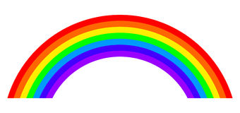 Seven colors rainbow illustration on white background Royalty Free Stock Photography