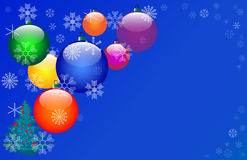 Seven Colour Christmas balls. Stock Images