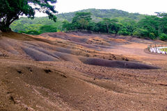 Seven Coloured Earth, Chamarel Royalty Free Stock Photo