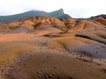 Seven Coloured Earth, Chamarel. The Seven Coloured Earth, Chamarel, Mauritius Royalty Free Stock Photo