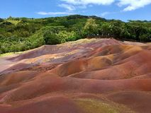 The seven coloured earth, of Chamarel, Mauritius Royalty Free Stock Photography