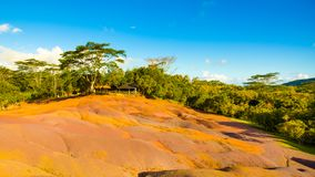 The Seven Coloured Earth. S in Chamarel, Mauritius island stock photos