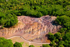 Seven coloured earth Mauritius Stock Photos