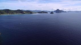 Seven Commandos Beach and Papaya Beach in El Nido, Palawan, Philippines stock footage