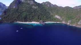 Seven Commandos Beach and Papaya Beach in El Nido, Palawan, Philippines stock video