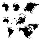 Seven Continents stock illustration