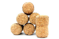 Seven corks Royalty Free Stock Images