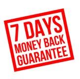 Seven days money back guarantee stamp. On white background royalty free illustration