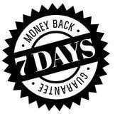 Seven days money back guarantee stamp. On white background vector illustration