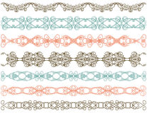 Seven decorative lines,   Stock Image