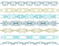 Seven decorative lines,   Royalty Free Stock Photo