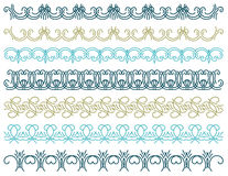 Seven decorative lines,  vector Stock Images