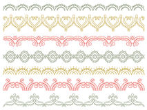 Seven decorative lines,  vector Royalty Free Stock Photos