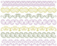 Seven decorative lines,  vector Stock Photo