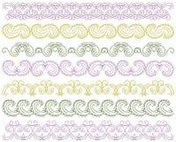 Seven decorative lines,  vector Stock Photo