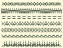 Seven decorative lines, vector Royalty Free Stock Image