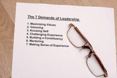 Seven demands of leadership