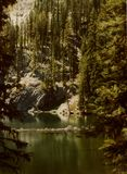 Seven Devils Lake - Idaho Backcountry. Seven Devils Lake is located at the feet of the mountains by the same name. Access road is out of Riggins, Idaho royalty free stock images