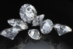 Seven diamonds Stock Images