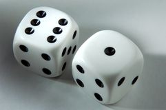 Seven in dice Stock Images