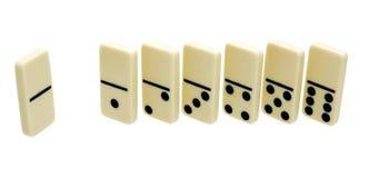 Seven domino's dice Royalty Free Stock Photo