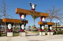 Seven dwarfs at the kids corner entrance. Stock Images