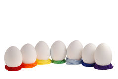 Seven eggs. Isolated  on the white background Royalty Free Stock Image