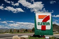 Seven Eleven assina Foto de Stock