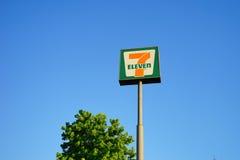 Seven Eleven unterzeichnen Stockfotografie
