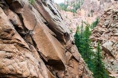 Seven Falls rocky landscape in colorado Springs Stock Images