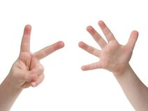 Seven Fingers Stock Photography