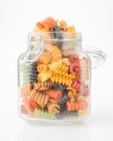 Seven flavors of Italian pasta Stock Images