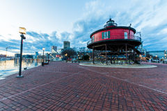 Seven Foot Knoll Light House in Baltimore, Maryland royalty free stock photography