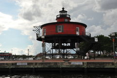 Seven Foot Knoll Lighthouse in Baltimore Royalty Free Stock Photography