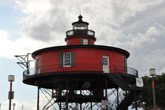 Seven Foot Knoll Lighthouse in Baltimore royalty free stock images