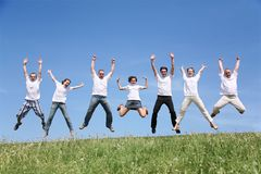 Seven friends Royalty Free Stock Photos