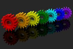 Seven gears Royalty Free Stock Photo