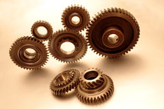 Seven gears Stock Photo