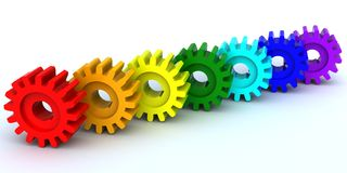 Seven gears Stock Photography