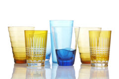 Seven glass. On white background Royalty Free Stock Image