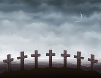 Seven gravestones Royalty Free Stock Photos