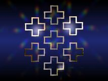 Seven Greek crosses Royalty Free Stock Photo