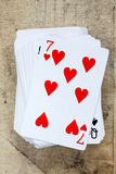 Seven of hearts Stock Images