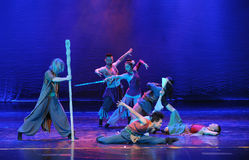 Seven Hermits-The dance drama The legend of the Condor Heroes Stock Photos