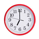 Seven hours on a round dial Royalty Free Stock Photo