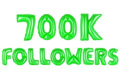 Seven hundred thousand followers, green color Stock Photography