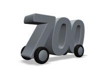 Seven hundred on wheels Stock Photography