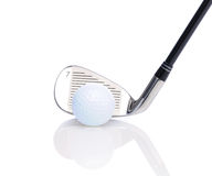 Seven Iron and Golf Ball Stock Images