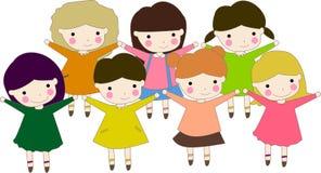 Seven kids Stock Photos