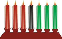 Seven kwanzaa candles in vector Stock Images
